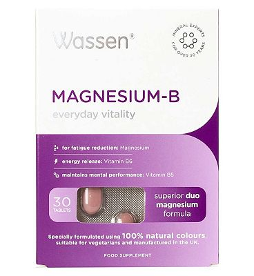 Wassen We Support Fatigue Reduction. MAGNESIUM B. 30 tablets