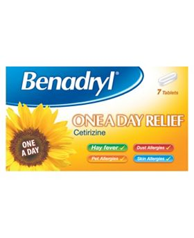 Benadryl One A Day Allergy Tablets - 7 Pack