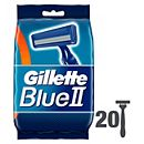 Gillette Blue Plus Twin Blade Fixed Head Disposable Razors 20 Pack