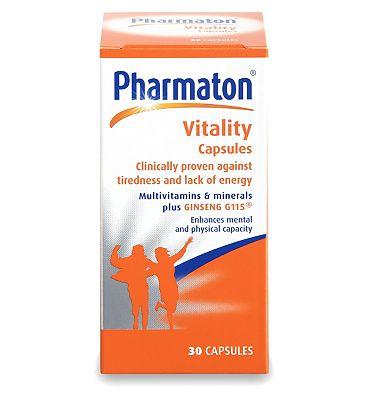 Pharmaton Vitality 30 Capsules