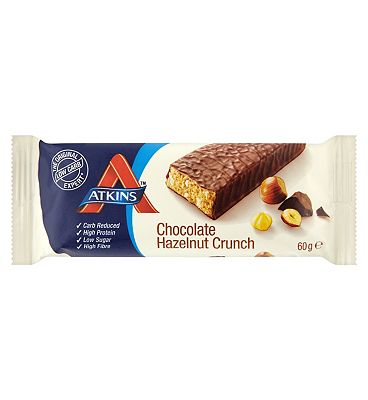 Atkins Advantage  Chocolate Hazlenut Crunch Bar with sweetener  60 g