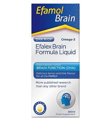 Efamol Brain. EFALEX BRAIN FORMULA LIQUID. 300ml