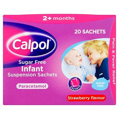 Calpol Sugar Free Infant Suspension Sachets - 20 Sachets.