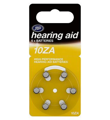Boots Hearing Aid Batteries Size 10  6 Pack