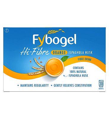 Fybogel Hi-Fibre Orange - 30 Sachets.