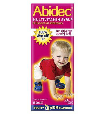 Abidec Multivitamin Syrup With Omega 3 & 8 Vitamins 150ml