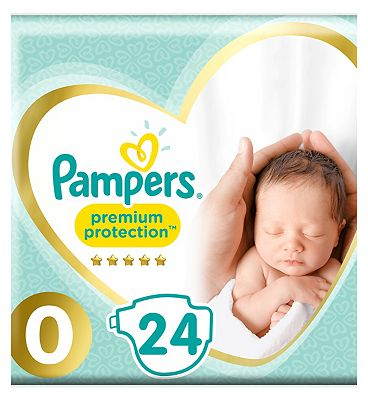 Pampers Micro New Baby Nappies Size 0 Carry Pack - 24 Nappies