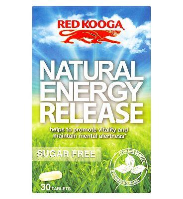 Red Kooga Natural Energy Release Tablets (30)