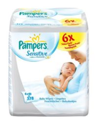 Pampers Sensitive Wipes Mega Pack 6 x 63Pack