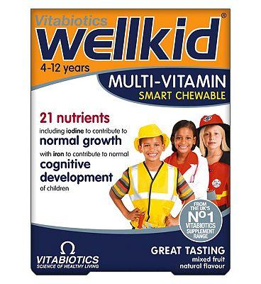 Vitabiotics WellKid Smart Chewable Multivitamins - 30 Tablets