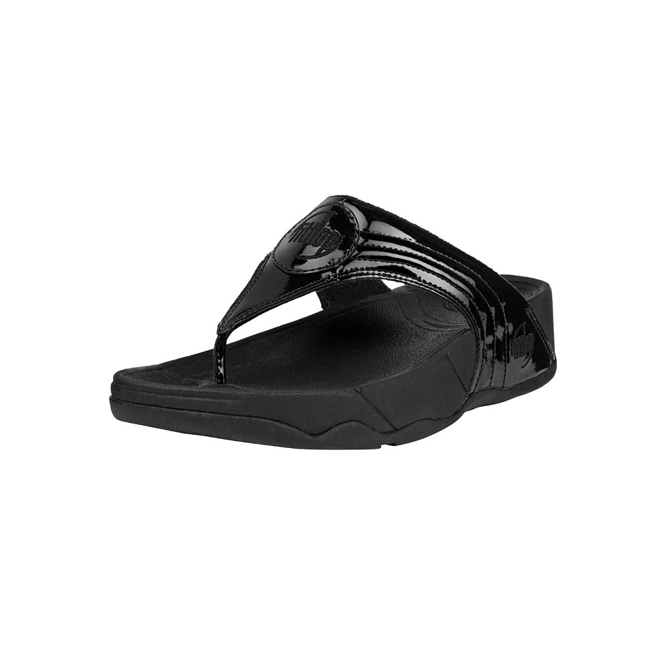 e1271df4ac69 FitFlop Walkstar III Patent Leather Black 10082624 on PopScreen