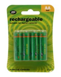 Boots AA Rechargeable Batteries 4 pack
