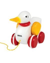 40 Advantage card points. A jolly little pull along duck from BRIO FREE Delivery on orders over £40.
