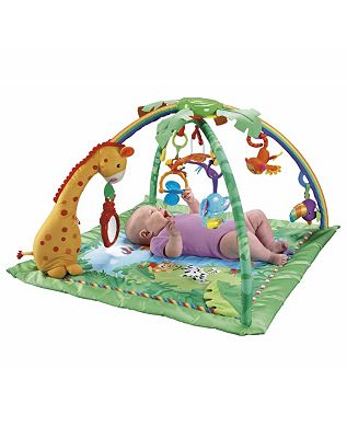 Fisher Price Rainforest Melodies & Lights Deluxe Baby Play Gym