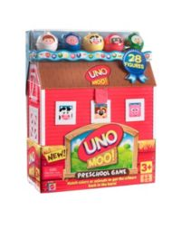 60 Advantage card points. UNO Moo Game is a fun game and great for teaching your child about colours and animals. Also develops problem solving skills. FREE Delivery on orders over £40.
