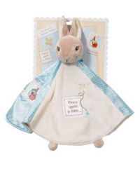 48 Advantage card points.       So soft Beatrix Potter comfort blanket in baby soft boa, back with satin       with delicate embroidery.     FREE Delivery on orders over £40.