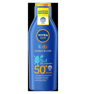 NIVEA SUN Kids Moisturising Sun Lotion 50+ Very High 200ml.