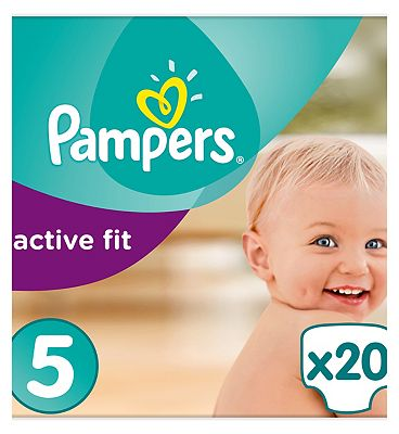 Pampers Active Fit Nappies Size 5 Carry Pack  20 Nappies
