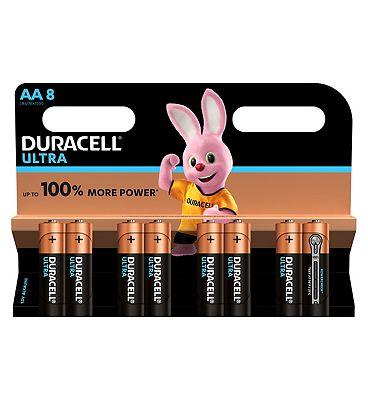 Duracell Ultra Power AA Alkaline Batteries  8x pack
