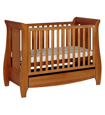 Tutti Bambini Katie Dropside Mini Cot & Sofa   Oak Finish