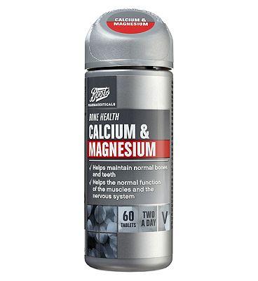 Boots Calcium & Magnesium (60 Tablets)