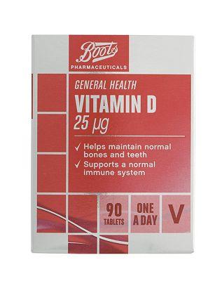 Boots Vitamin D 25g (90 Tablets)