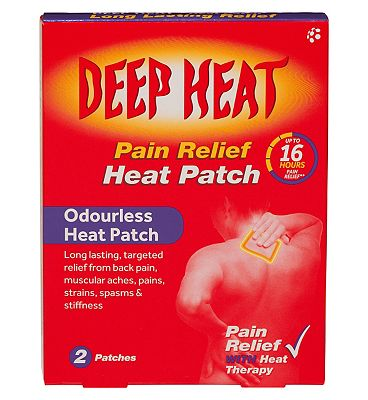 Deep Heat Patch for Back Pain (2 patches)