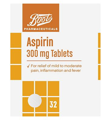 Boots Aspirin 300mg Tablets  32 Tablets