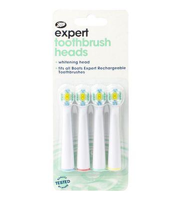 Boots Expert whitening brush heads x4