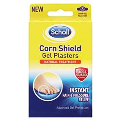 Scholl Corn Shield Plasters Natural Treatment (6 Corn Plasters)