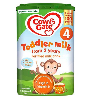 Cow & Gate Growing Up Milk Fortified Milk Drink for Young Children Aged 2-3 Years Stage 4 800g