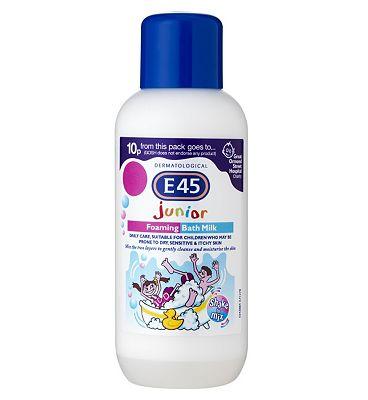 E45 Junior Foarming Bath Milk for Dry Skin & Sensitive Skin - 500ml