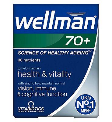 Vitabiotics Wellman 70+ 30 Tablets