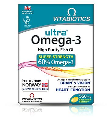 Vitabiotics Ultra Omega-3 Fish Oil Capsules 60 Caps