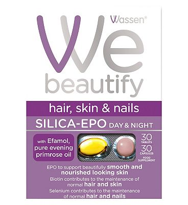 Wassen We Beautify. Hair Skin and Nails. SILICA -EPO. 30 capsules + 30 tablets