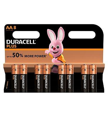 Duracell Plus Power AA Battery  8 Batteries