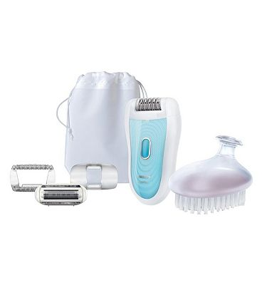 Philips SatinSoft HP652201 Wet & Dry Epilator with skincare system shaving attachment and exfoliation brush