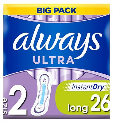 Always Ultra Long Sanitary Towels without Wings x26 pads