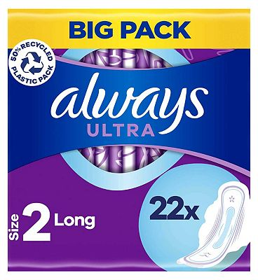 Always Ultra Sanitary Towels Long Plus with Wings x22 pads