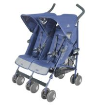 Maclaren Twin Techno Pushchair - Crown Blue Picture