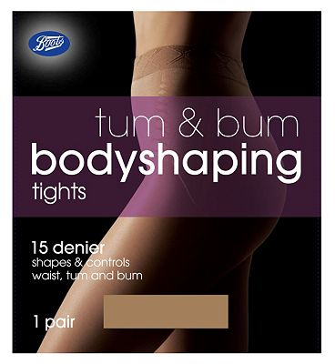 Boots Tum and Bum Shaping Tights Nude
