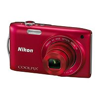 NIKON COOLPIX S3300 Compact Digital Camera - Red