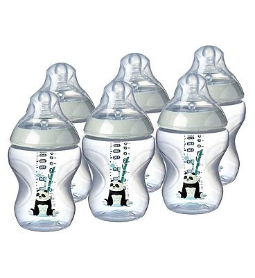 Tommee Tippee Closer To Nature Pink Feeding Bottle  6 Pack