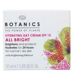 Botanics All Bright Hydrating Day Cream SPF15 50ml