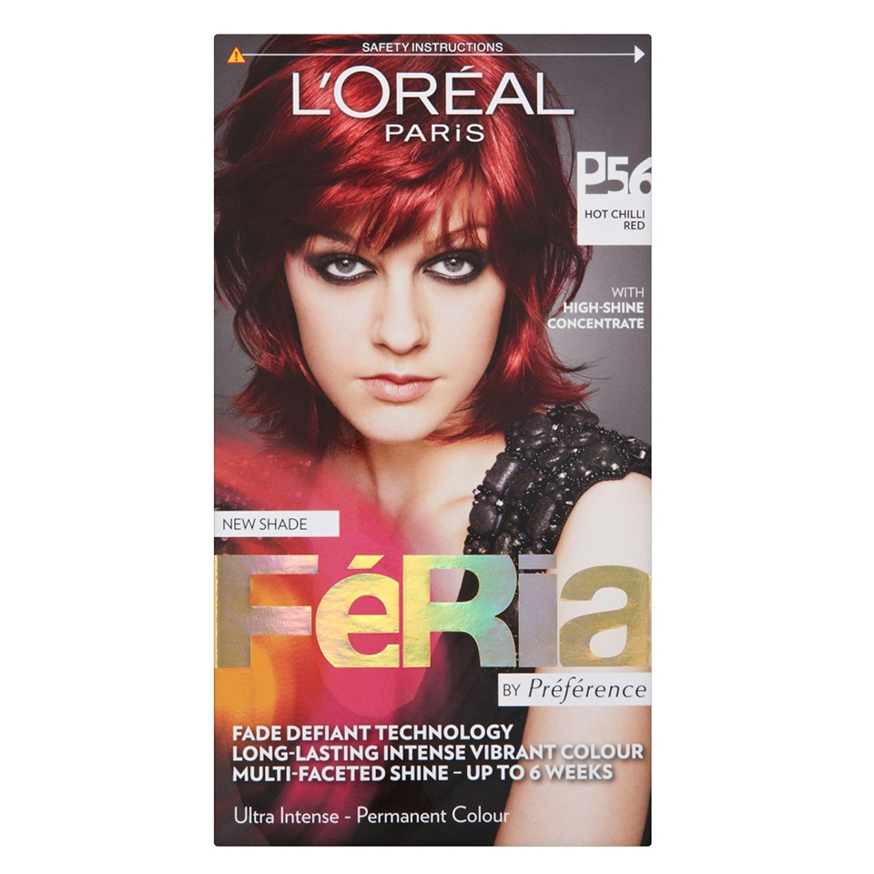 Loreal Feria Hot Chilli Red Hair Dye P56 Boots