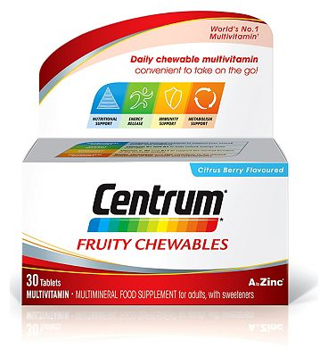 Centrum Fruity Chewables - 30 Tablets