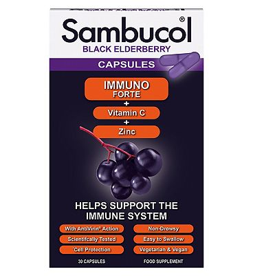 Sambucol Immuno Forte Capsules - 30 capsules