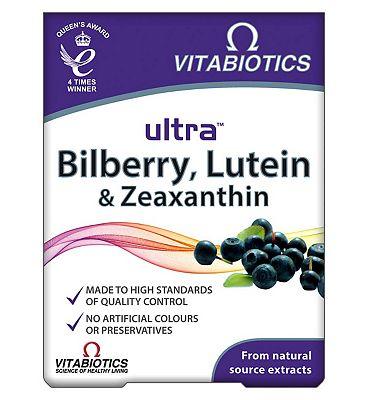 Vitabiotics Ultra Bilberry, Lutein & Zeaxanthin 30 Tablets