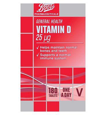 Boots Vitamin D 25 ug tablets  180 tablets