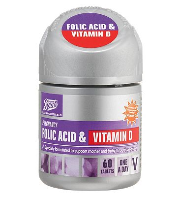 Boots Folic Acid & Vitamin D tablets  60 tablets